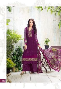 Purple Embroidered Salwar Made With Georgette & Printed Dupatta @ fashionsbyindia.com #designs #indian #womens #style #cloths #stylish #casual #fashionsbyindia #punjabi #suits #wedding #chic #elegance #beauty #outfits #fantasy #embroidered #dress #PakistaniFashion #Fashion #Longsuit #FloralEmbroidery #Fashionista #Fashion2015 #IndianWear #WeddingWear #Bridesmaid #BridalWear #PartyWear #Occasion #OnlineShopping #salwar #kameez #palazzo