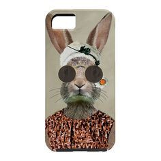 Coco de Paris Vintage Lady Rabbit Cell Phone Case | DENY Designs Home Accessories