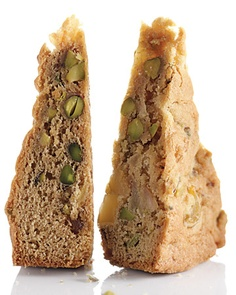 Pear, Pistachio, and Ginger Blondies Recipe