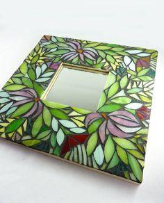 Mosaic Mirror Midnight Garden by glassetc on Etsy,