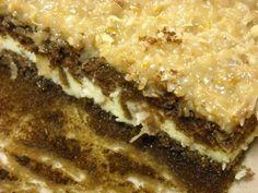 German Chocolate Cheesecake Cake