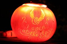 Harry Potter themed jack o'lantern (Halloween fun)