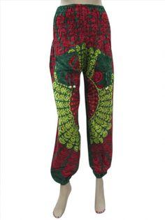 Amazon.com: Womens Hippy Harem Pant Green Mandala Print Yoga Pants: Clothing