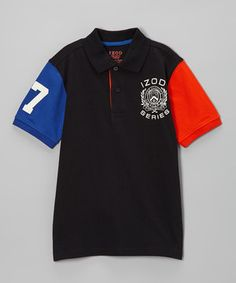 This IZOD Deep Black Piqué Polo - Boys by IZOD is perfect! #zulilyfinds