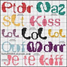 mots - Point de croix - Blog : http://broderiemimie44.canalblog.com/