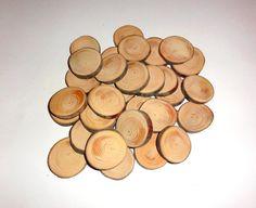 Pine Disc Tree Rustic Wedding Wood Tree Slices Decor by NayasArt