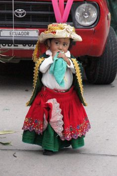 The Children's Christmas Parade in Cuenca, Ecuador on 24 Dec. 2012