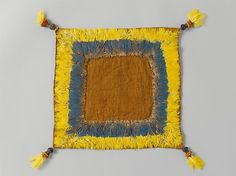 Square Cloth with Feathered Border. Chimú