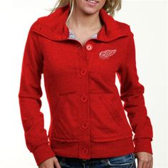 Touch by Alyssa Milano Detroit Red Wings Ladies Red Sweetspot French Terry Jacket
