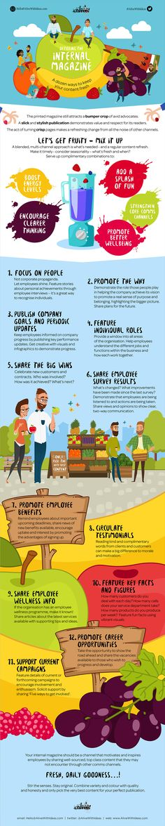 Detoxing Your Internal Magazine #Infographic #Business
