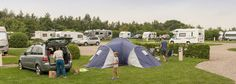 Grass pitches at Teversal campsite