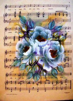 flores e músicas