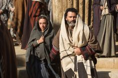 Sara Lazzaro and Vincent Walsh in The Young Messiah