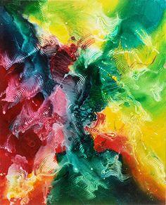 """opera astratta, titolo """"Equinozio di Marzo"""" colori acrilici"""