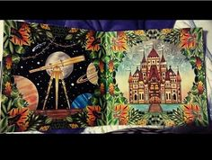 Floresta encantada/ jardim secreto Castelo e telescópio
