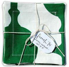 Cotton + Quill FRENCH 75 | EMERALD :: COCKTAIL NAPKINS