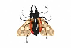 The Fly Machine Embroidery Design...2616 by Letzrock on Etsy