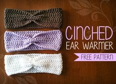 Cinched Ear Warmer Headband Crochet Pattern (Free Pattern!) | By Little Monkeys Crochet