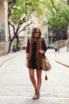 WATERFALL SUEDE GILLET | My Daily Style en stylelovely.com