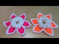 Crochet 3d Flower For Begginers - YouTube