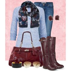Fall outfit by peridotpixie on Polyvore featuring maurices, Valentino, Vero Moda, Journee Collection, Coach, Fornash, Yves Saint Laurent and Juicy Couture