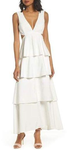 8424aa9030f Bardot Cutout Detail Tiered Maxi Dress  fashion  style  shopping  deals   dresses