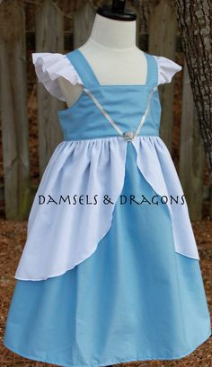 Cinderella Inspired Dress by damselsndragons on Etsy, $45.00