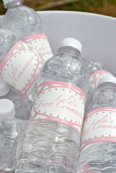 great idea!  make your own water bottle labels to fit the theme!