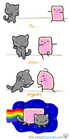 How nyan cat was made. Fusion can make amazing things.