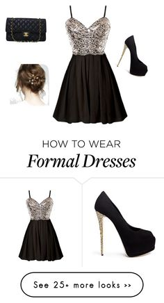 """Formal/date wear"" by bri-style on Polyvore featuring Giuseppe Zanotti and Chanel"