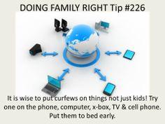 "It is wise to put curfews on things not just kids! ""Image courtesy of ddpuvumba / FreeDigitalPhotos.net""."