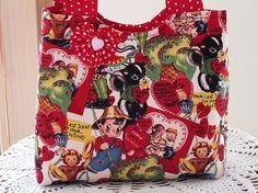 Tote Purse  Child Boutique Bag Vintage Retro by Antiquebasketlady, $16.99  #teamsellit