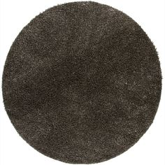 Artist's Loom Hand-woven Shag Rug (7'9 Round) (Black), Grey (Polyester, Solid)