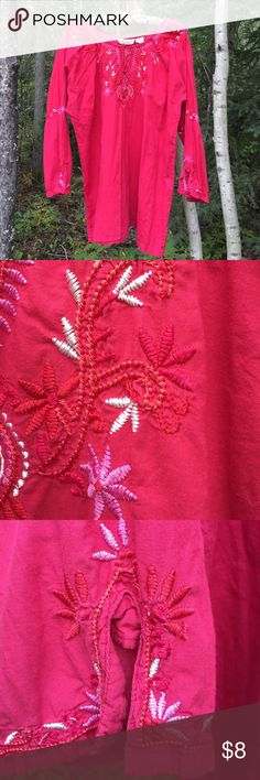 New Direction embroidered peasant tunic. M. New Direction embroidered peasant tunic. M. GUC. Tops