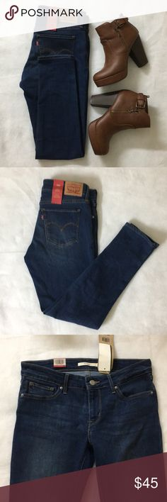 Levi's 711 Classic skinny jeans...!! The classic 711 Ankle Skinny dark blue jean that fits slim through the hip and thigh. Size is 6 & Waist 28 with the classic 5 pockets...!! This dark washed denims are an essential in every wardrobe...!! Levi's Jeans Skinny