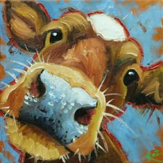 Drunken Cows – Whimsical Fine Art by Roz - Art ideas Cow Painting, Painting & Drawing, Cow Drawing, Art Fantaisiste, Farm Art, Cow Art, Whimsical Art, Animal Paintings, Painting Inspiration