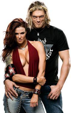 Edge (Adam Copeland) & his former on & off screen girlfriend, Lita (Amy Dumas)