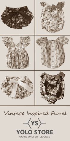 Clothing made from gorgeous vintage inspired floral fabrics available at YOLO Store.