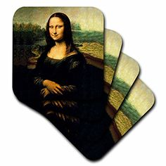 >>> Find out more details by clicking the image: 3dRose cst_556_2 Monalisa Soft Coasters, Set of 8 at Christmas Decorations.