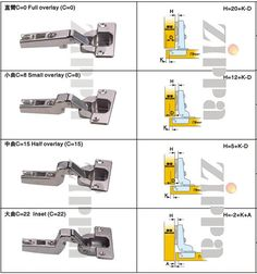 types of hidden hinges - Google Search