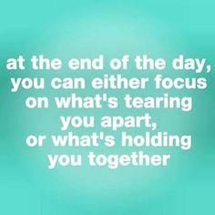 Inspiration quote focus