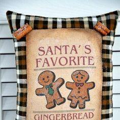 Gingerbread pillow