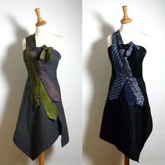 Bespoke Tie Dress - Made to Measure - Your choice of colours. £96.00, via Etsy.