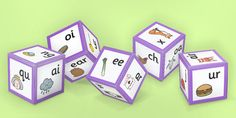 Phonics dice with images