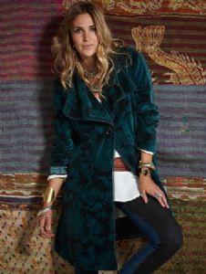 Hippy Coat~Bohemian Ethnic Paisley Pattern Velvet Swing Coat Purple or Teal Cotton Velvet Hippy Jacket~Fair Trade by Folio Gothic Hippy AS65...