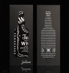 Jack Daniels Whiskey box packaging designed by Mayday Jack Daniels, Cool Packaging, Beverage Packaging, Product Packaging, Black Packaging, Bottle Packaging, Web Design, Label Design, Package Design