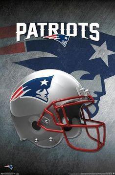 size: 22x15in Poster: NFL New England Patriots - Helmet 16 : Patriots Football Team, Official Nfl Football, Nfl Football Helmets, Patriots Fans, Pittsburgh Steelers, Soccer Jerseys, College Football, Dallas Cowboys, Redskins Helmet