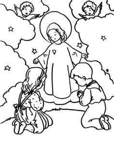 a father's love -- family coloring page. | catholic coloring pages ... - Father Coloring Page Catholic