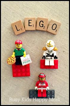 Great craft to let all those little hands that love LEGO make something super amazing: LEGO Magnets!