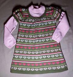 Gymboree Knit Dress Hearts 2T Receive In Time For Christmas Holiday #Gymboree #DressyEverydayHoliday